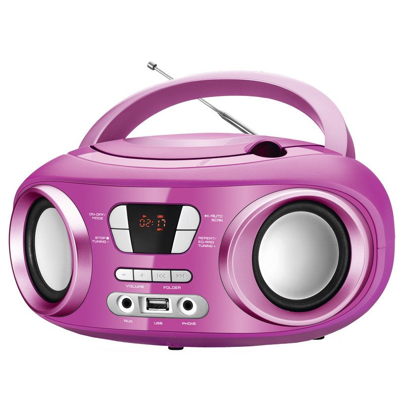 brigmton w 500 radio cd mp3 usb rosa micro cadena. Black Bedroom Furniture Sets. Home Design Ideas